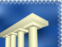 Greek ancient architecture Royalty Free Stock Images