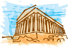 Greek ancient building Stock Image