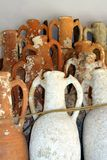 Greek ancient ceramics. Museum of underwater archaeology in Bodrum stock photography