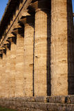 Greek ancient columns from Hera temple in Paestum, Italy Stock Photo