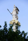 Greek ancient Goddess Athena. In front of the National Academy of Athens Royalty Free Stock Photos