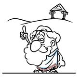 Greek ancient philosopher cartoon illustration Stock Photo