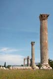 Greek ancient pillars of doric order Stock Photos