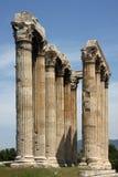 Greek ancient pillars of doric order Royalty Free Stock Photo