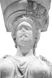 Greek ancient statue of the Caryatid Royalty Free Stock Photography
