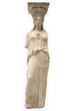Greek ancient statue of the Caryatid Royalty Free Stock Image