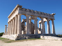 Greek ancient temple of afaia. Another view of the greek ancient temple of afaia in aegina island, greece Royalty Free Stock Image