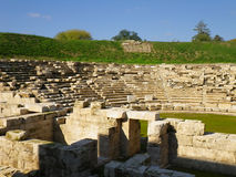 Greek ancient theater. Of Larissa city in Greece Stock Images