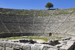 Greek ancient theater of Dodoni at Greece Royalty Free Stock Images