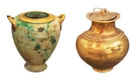 Greek antique perfume vase Stock Photos