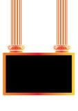 Greek Antique pillar frame Stock Images