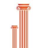 Greek Antique pillars - vector. Greek Antique pillars in white background, vector Stock Photo