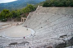 Greek antique theater Stock Photography
