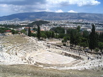 Greek antique theatre. Athens Royalty Free Stock Images