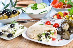 Free Greek Appetizers Royalty Free Stock Photography - 20778877