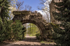 Greek Arch in Arkadia in Poland Royalty Free Stock Photo