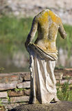 Greek archaic statue found at Dion site. Greek archaic statue torso found at ancient Dion of Katerini city in north Greece Royalty Free Stock Photo