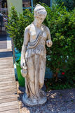 Greek archaic statue located at Corfu Royalty Free Stock Photo