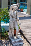 Greek archaic statue located at Corfu Stock Image