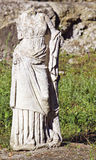 Greek archaic statue torso. Found at ancient Dion of Katerini city in north Greece Stock Image