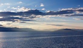 The greek archipelago at sunrise Stock Photo