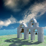 Greek Architecture with bule sky Stock Photo