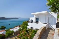Greek architecture at Mirabello Bay Stock Photo