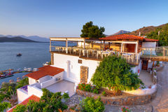 Greek architecture at Mirabello Bay. On Crete Stock Photography