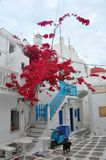 Greek architecture on Mykonos island Stock Photography