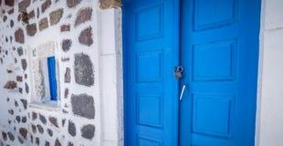 Greek Architecture in Santorini Stock Photo
