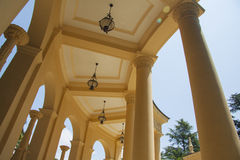 Greek architecture in sunny day Royalty Free Stock Photo
