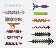 Greek arrows vector illustration