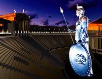 Greek Athena in theatre Stock Photo