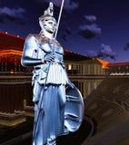 Greek Athena in theatre Stock Photos