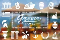 Greek background Stock Image