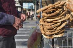 Greek bagels (koulouri) Stock Photo