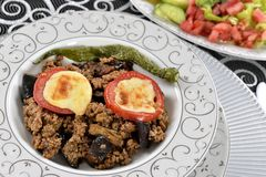 Greek Balkan Lamb Moussaka Royalty Free Stock Photos