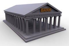 Greek bank metaphoric illustration Stock Photos