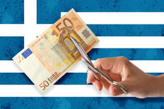 Greek bankruptcy Royalty Free Stock Image
