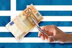 Greek bankruptcy Royalty Free Stock Image
