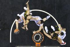 Greek Basket League game Paok vs Aris at PAOK sports arena. Royalty Free Stock Photos
