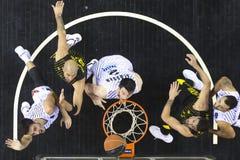 Greek Basket League game Paok vs Aris at PAOK sports arena. Stock Images