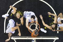 Greek Basket League game Paok vs Aris at PAOK sports arena. Stock Photography