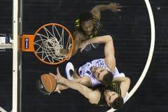 Greek Basket League game Paok vs Aris at PAOK sports arena. Royalty Free Stock Photo