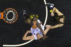 Greek Basket League game Paok vs Aris at PAOK sports arena. Royalty Free Stock Image
