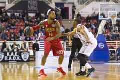 Greek Basket League game Paok vs Olympiakos Royalty Free Stock Photo