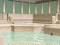 Greek Bath stock illustration