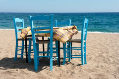 Greek beach Stock Image