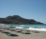 Greek beach. Beach of plakias, crete, greece Stock Photography