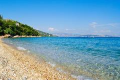 Greek Beach. Beaches from Corfù, Kerkira, Greek island Royalty Free Stock Photos
